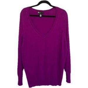 Lane Bryant 22 24 Purple V Neck Sweater